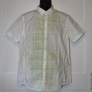 INC Short Sleeve Button Down Shirt